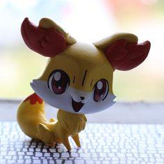Fennekin Pokemon inspired Littlest Pet Shop by PiasLittleCustoms