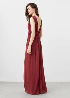 Robe longue drapée