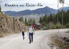 Wandern mit Kindern zur Reiser Alm, Lenggries. Dauer ca. 30 Minuten