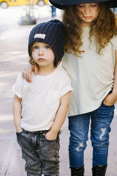 Kids of New York! « I dig denim Biet is wearing: Madison jeans + dila top Lucien is wearing: Arizona jeans + dante v-neck + Noor beanie Photography: Belle Savransky