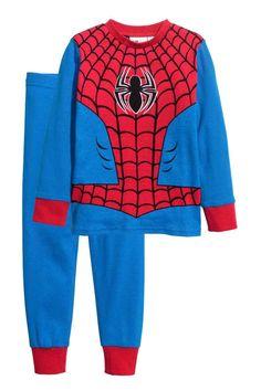 Nattøj i bomuld str. 104 - eksempelvis med Spiderman fra H&M