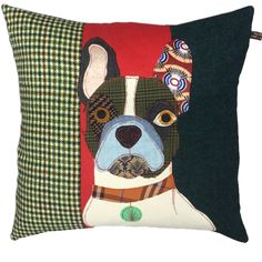 Pierre the French Bulldog Cushion by Carola van Dyke