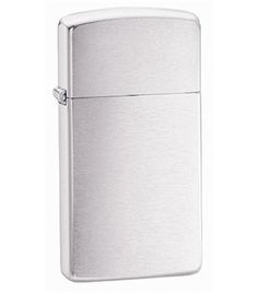 Zippo Slim Brushed Chrome Lighter