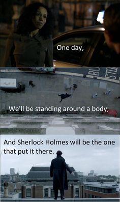 Sad but it's true. Though Sherlock was protecting John Watson. Johnlock, Sherlock Holmes Bbc, Sherlock Fandom, Jim Moriarty, Sherlock Quotes, Sherlock John, Watson Sherlock, Sherlock Season 2, Baker Street