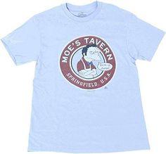 The Simpsons Moe's Tavern Light Blue T-Shirt Tee http://order.sale/zfLf (via Amazon)