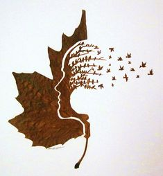 Using a craft knife and needle, artist Omid Asadi carves delicate and intricate artworks into naturally fallen leaves.