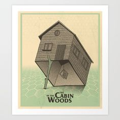 """Cabin In The Woods Trap Art Print """"THE LAMBS HAVE PASSED THROUGH THE GATE""""   #whedon #josswhedon #merch #tee #tshirt #shirt #cabin #in #the #woods #art #print"""