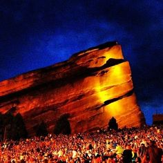 You look out at those gorgeous rocks. | Red Rocks Might Be The Most Perfect Music Venue On The Planet