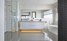 Interior Design Gallery | Home Decorating Photos - LookBook - strip lighting in bathroom