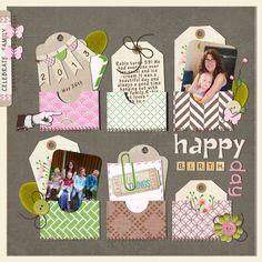 2 photos + tags + envelopes