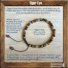 AFFIRMATION: I SEE THE GOOD FORTUNE COMING MY WAY. - COURAGE: Tiger's Eye Yoga Mala Bracelet