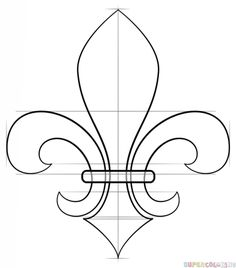 frrench free clip art black and white fleur de lis outline free