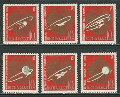RUSSIA - CCCP 1963 '' CONQUEST OF THE COSMOS '' SET MNH (want)