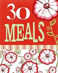 Great way to organize your meals! Master menu plan and shopping list