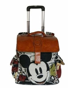 Mickey Mouse Travel Luggage Trolley Roller