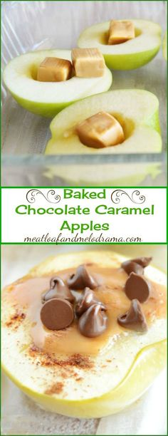 Caramel Apples Baked Chocolate Caramel Apples -- Easy to make and a delicious fall dessert!Baked Chocolate Caramel Apples -- Easy to make and a delicious fall dessert! Fall Dessert Recipes, Fruit Recipes, Apple Recipes, Fall Recipes, Recipies, Easy Fall Desserts, Sukkot Recipes, Snack Recipes, Brownie Desserts