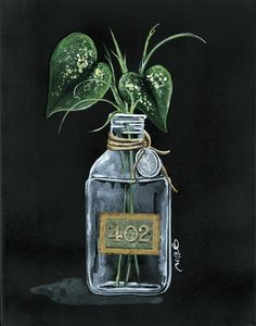 Julie Norkus: Hand Painted Art on Creatively Curated Goods Floral Artwork, Floral Paintings, Canvas Paintings, Canvas Art, Bottle Painting, Hand Painting Art, Blackboard Art, Old Perfume Bottles, Canvas Ideas