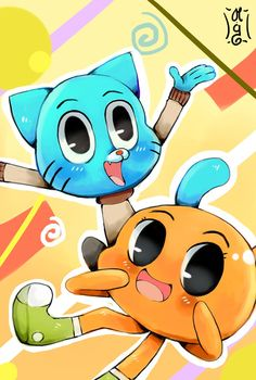 Gumball and Darwin by Cartoon Quotes, World Of Gumball, Darwin, Anime, Cartoon Wallpaper, Cartoon Drawings, Funny Moments, Fangirl, Pikachu