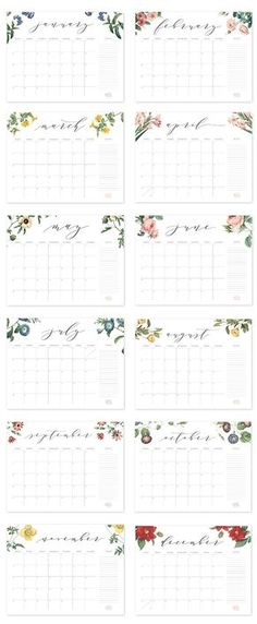 2017 Free Printable Calendar Fabulous Freebies Pinterest