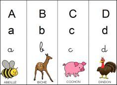 Printable alphabet for kindergarten - Preschool Activities French Alphabet, Alphabet Images, Animal Alphabet, Abc Activities, Preschool Worksheets, Language And Literature, Literature Books, French Classroom Decor, Letra Script