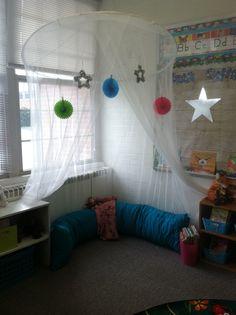 This is my classroom reading corner.