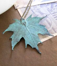 Real electroplated maple leaf jewelry…kinda madly in love with this.