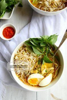 Resep Laksa Bogor : resep, laksa, bogor, Resep, Laksa, Betawi, Masakan, Indonesia,, Makanan, Asia,