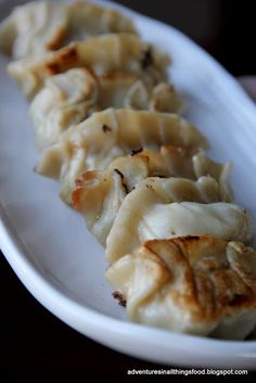 Japanese Gyoza. - Also known as Chinese dumpling or Dim Sim., appetizers.. Good party food or snacks..