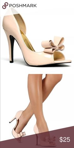 D'Orsay Stiletto Heel Nude Bow NIB New in box. Size 8.5 has minor scratches on shoe. Ships next day. SHOE RUNS SMALL!!! 🎀Discounts with Bundles and on Size 8.5 only🎀 Cape Robbin Shoes Heels
