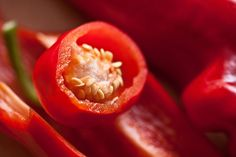#cayenne pepper #chillies #close up #food #fruit #health #hot #ingredients #macro #organic #red #red pepper #seeds #sliced