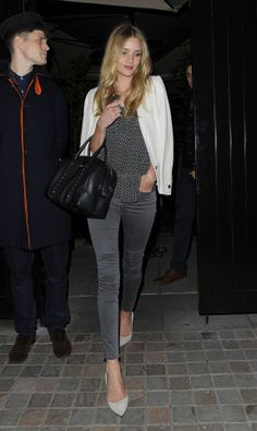 Rosie Huntington-Whiteley Night Out Style - Chiltern Firehouse Restaurant in London, May 2014.