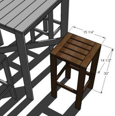 DIY Furniture : DIY Stools for the Bar Table for the Simple Outdoor Collection