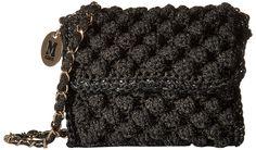 M Missoni Lurex Rafia Mini - ShopStyle Shoulder Missoni, Black Shoulder Bag, Shoulder Bags, Yarn Bag, Mini Handbags, How To Make Handbags, Mini Purse, Black Purses, Knitted Bags