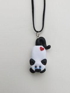 Polymer Clay Cat Custom Cat Pendant by HeartOfClayGirl on Etsy, $12.00