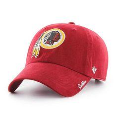 c51de9737751e Washington Redskins Women s 47 Brand Sparkle Red Clean Up Hat
