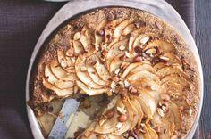 Mandlový koláč s jablky a javorovým sirupem