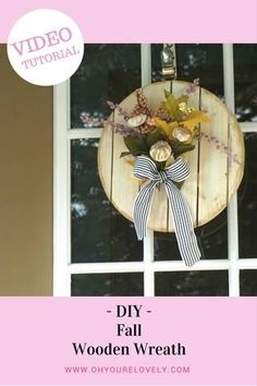 How to make a fall wreath, a video tutorial! // Oh! You're Lovely Home Decor
