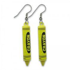 Crayon Earrings by SHOPHULLABALOO on Etsy, $8.99