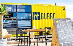 Food Truck: Burro in Austin, TX  t'would be cool to have a multi-level seating area made of shipping containers...  food-truck-designs ft-17-burro