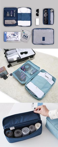 Packing just got a lot easier with the Business Travel Pouch Set! This set includes pouches to store and organize your items, and will make your next business trip a lot more enjoyable!