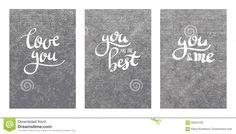 brush lettering | Brush pen modern custom calligraphy lettering, love message, love you ...