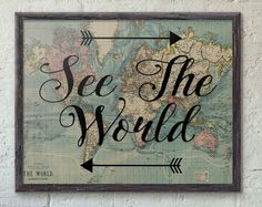 Explore print travel poster world map art travel quote explore print travel poster world map art travel quote gumiabroncs Choice Image