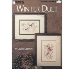 Birds Cross Stitch Patterns - Cardinals and Chickadees - Winter Duet