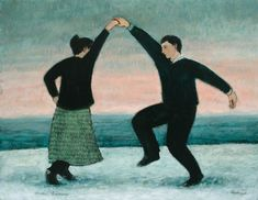 """Winter Dancing"" ..Brian Kershisnik."