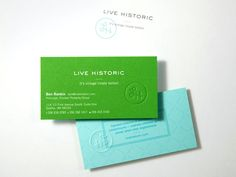 Live Historic business cards