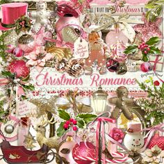 A romantic style Christmas themed scrapbook collection from Raspberry Road.