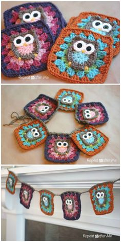 DIY Owl Granny Square Crochet Pattern - 101 Free Crochet Patterns For Beginners That Are Super Easy - DIY & Crafts