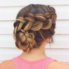 braided updo for prom