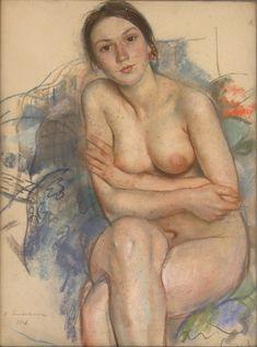Zinaida Serebriakova, Portrait of Ekaterina Serebriakova, 1928.