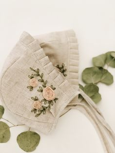 floral-baby-bonnets-joyfully-stitched/ - The world's most private search engine Hand Embroidery Art, Embroidery Flowers Pattern, Fabric Crafts, Sewing Crafts, Sewing Projects, Handgemachtes Baby, Baby Girls, Mouth Mask Fashion, Crochet Mask